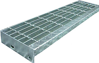 China Galvanized steel stair treads