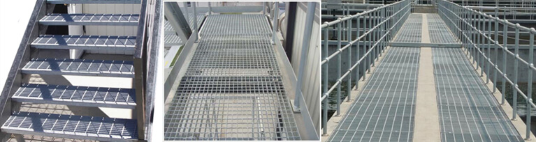 anti slip grating stairs