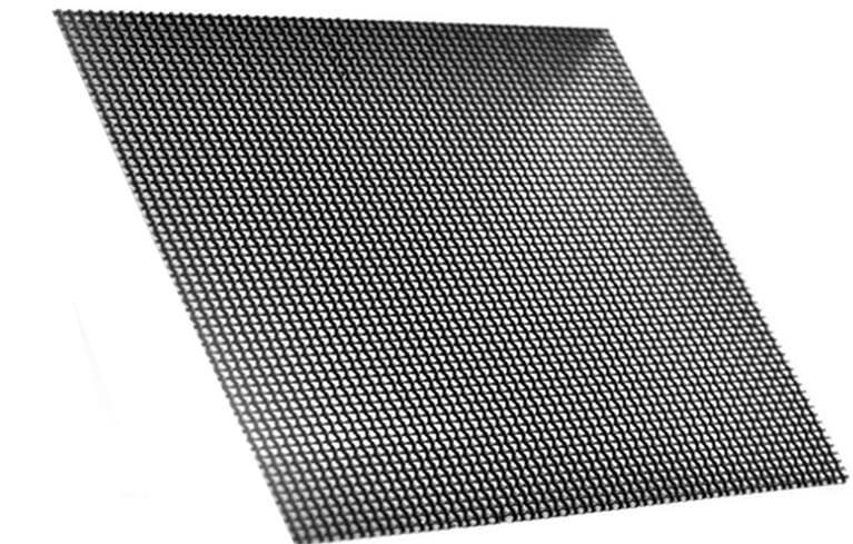 black mesh wire