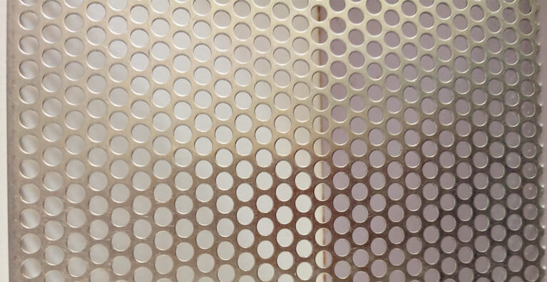 metal sheet perforated