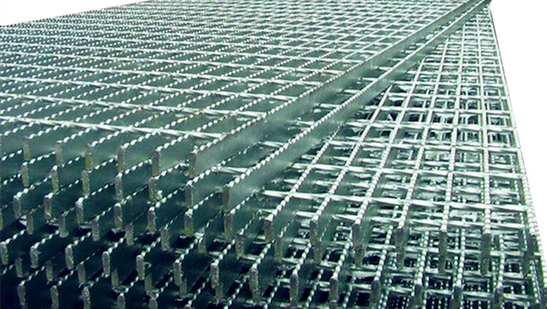 open steel floor grating