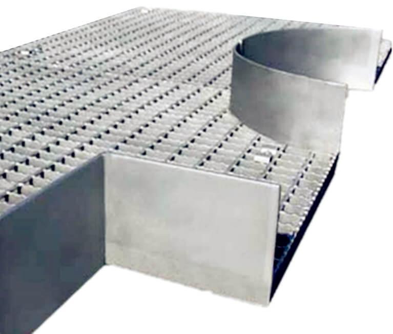 steel grate platform